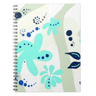 Trending abstract Pattern light colour floral blob Notebook