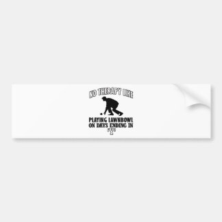 Trending and awesome Lawn-bowl designs Bumper Sticker