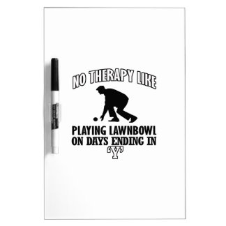 Trending and awesome Lawn-bowl designs Dry-Erase Board
