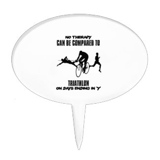 Trending and awesome TRIATHLON designs Cake Topper