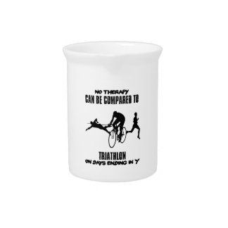 Trending and awesome TRIATHLON designs Drink Pitcher