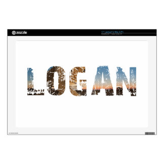 "TRENDING and cool Logan name designs 17"" Laptop Decal"