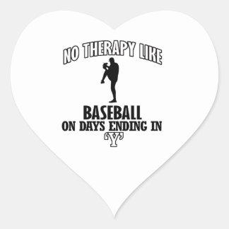 Trending Baseball designs Heart Sticker