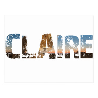 TRENDING CLAIRE NAME DESIGNS POSTCARD