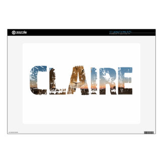 TRENDING CLAIRE NAME DESIGNS SKIN FOR LAPTOP