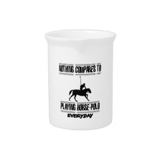 Trending cool Horse-polo designs Drink Pitcher