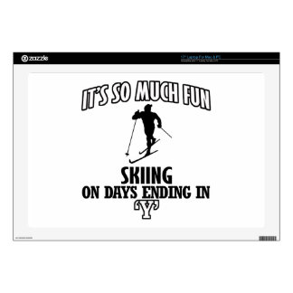 Trending cool skiing designs decals for laptops