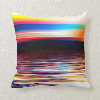 Trending Escapism Decor - stunning sunset sea Throw Pillow