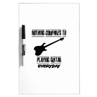 Trending Guitar player designs Dry Erase Board