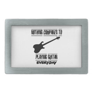 Trending Guitar player designs Rectangular Belt Buckle
