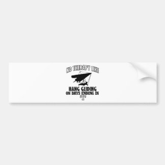 Trending hang gliding designs bumper sticker