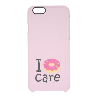 trending I Donut Care funny phrase quote emoji Clear iPhone 6/6S Case