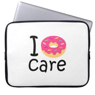 trending I Donut Care funny phrase quote emoji Computer Sleeve