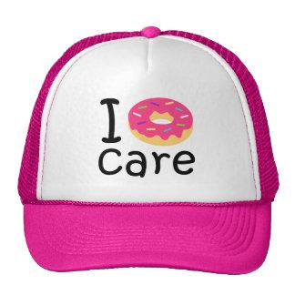 trending I Donut Care funny phrase quote emoji Trucker Hat
