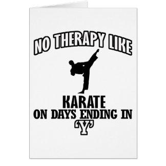 Trending Karate designs Card