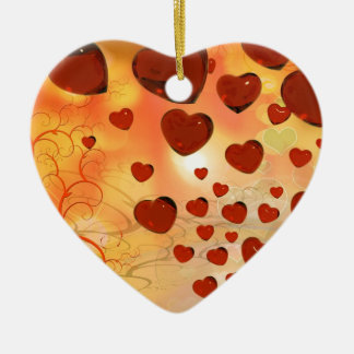 Trending love hearts, accessories. Valentines day Christmas Tree Ornaments