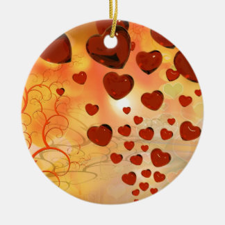 Trending love hearts, accessories. Valentines day Ornaments