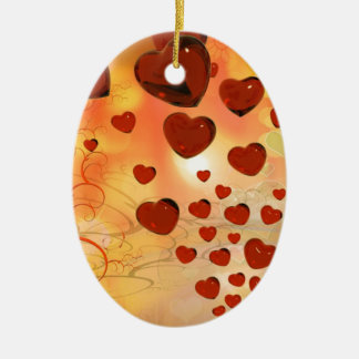 Trending love hearts, accessories. Valentines day Christmas Tree Ornament