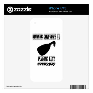 Trending lute player designs skin for iPhone 4