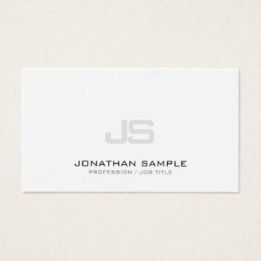 Lawyer Themed Trending Modern Clean Elegant Monogrammed Plain Business Card