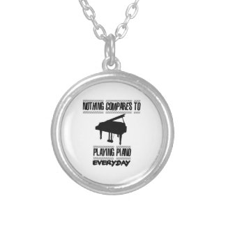 Trending Piano player designs Silver Plated Necklace