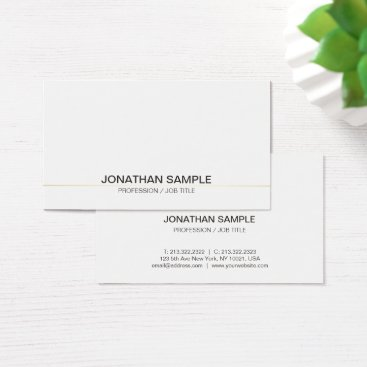 Lawyer Themed Trending Professional Sophisticated Simple Plain Business Card