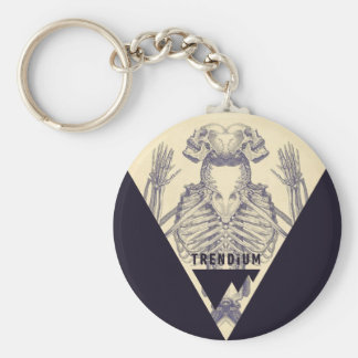 Trendium Vintage Symmetrical Skeleton Triangle Keychain