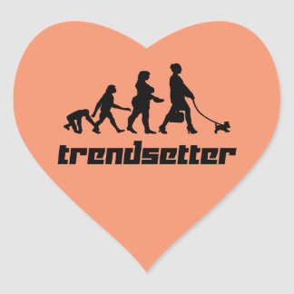 Trendsetter Heart Sticker