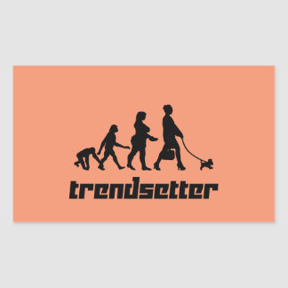 Trendsetter Rectangular Sticker