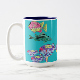 Trendsetters - The Mustache Crew Two-Tone Coffee Mug