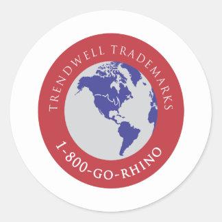 Trendwell Trademarks Classic Round Sticker