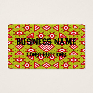 Trendy abstract art business card