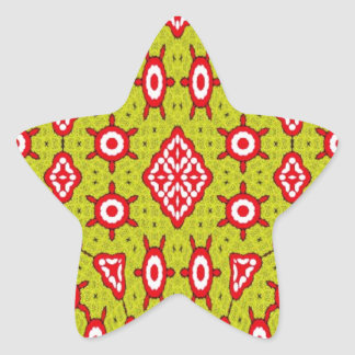 Trendy abstract art star sticker