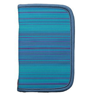 Trendy Abstract Blue Stripes Pattern Planners