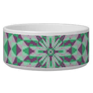 Trendy abstract decorative pattern dog bowl