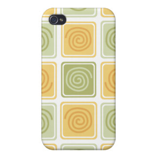 Trendy Abstract - Lime & Lemon Case For iPhone 4