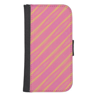 Trendy Abstract Pastel Diagonal Stripes Galaxy S4 Wallet Case