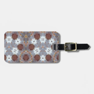 Trendy abstract pattern bag tag