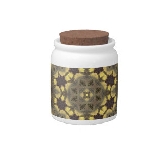 Trendy abstract pattern candy jars