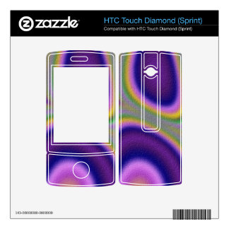 Trendy abstract pattern HTC touch diamond decal
