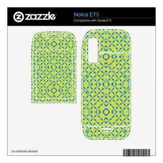 Trendy abstract pattern decals for nokia e75