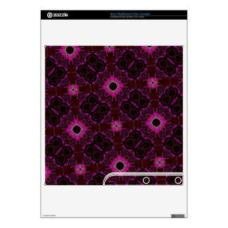 Trendy abstract purple pink pattern PS3 slim console skins