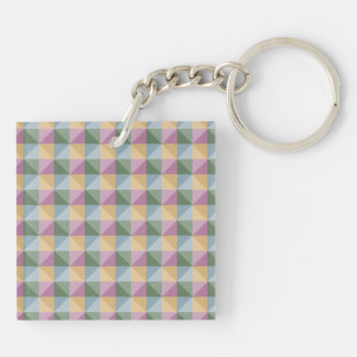 Trendy Abstract  square and triangle pattern Keychain