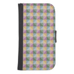 Trendy Abstract  square and triangle pattern Galaxy S4 Wallet Case