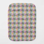 Trendy Abstract  square and triangle pattern Baby Burp Cloths