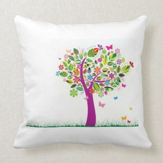 Trendy Abstract Tree Pillow