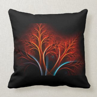 Trendy Abstract Tree Throw Pillows