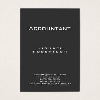 Trendy Accountant Gray Chubby Business Card