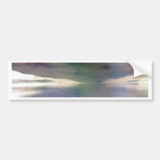 Trendy, Alien Inverted Horizon Water Reflection Bumper Sticker