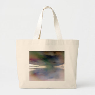 Trendy, Alien Inverted Horizon Water Reflection Large Tote Bag